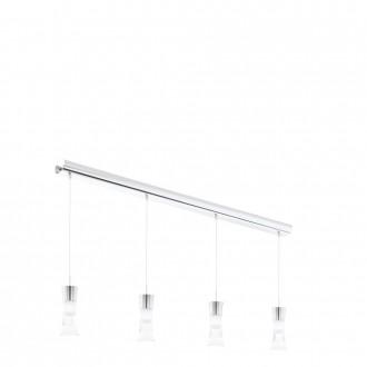 EGLO 94358 | Pancento-2 Eglo visilice svjetiljka 4x LED 1920lm 3000K krom, bijelo, prozirna