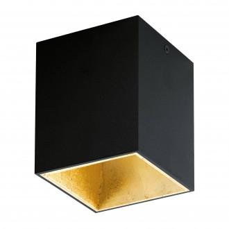 EGLO 94497 | Polasso Eglo stropne svjetiljke svjetiljka kocka 1x LED 340lm 3000K crno, zlatno
