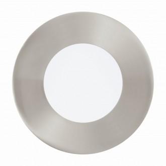 EGLO 94518 | Fueva_1 Eglo ugradbene svjetiljke LED panel okrugli Ø85mm 1x LED 300lm 3000K poniklano mat, bijelo