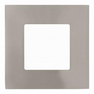 EGLO 94519 | Fueva-1 Eglo ugradbene svjetiljke LED panel četvrtast 85x85mm 1x LED 300lm 3000K poniklano mat, bijelo