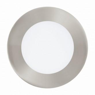 EGLO 94521 | Fueva_1 Eglo ugradbene svjetiljke LED panel okrugli Ø120mm 1x LED 600lm 3000K poniklano mat, bijelo