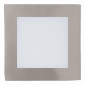 EGLO 94522 | Fueva_1 Eglo ugradbene svjetiljke LED panel četvrtast 120x120mm 1x LED 600lm 3000K poniklano mat, bijelo
