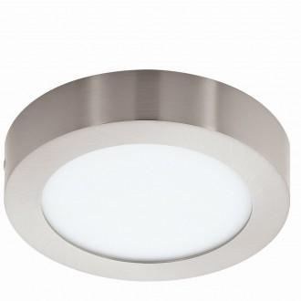 EGLO 94523 | Fueva_1 Eglo stropne svjetiljke LED panel okrugli 1x LED 1200lm 3000K poniklano mat, bijelo