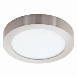 EGLO 94525 | Fueva_1 Eglo stropne svjetiljke LED panel okrugli 1x LED 1600lm 3000K poniklano mat, bijelo