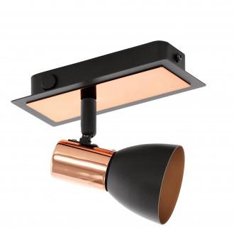 EGLO 94584 | Barnham Eglo spot svjetiljka s prekidačem elementi koji se mogu okretati 1x GU10 240lm 3000K crno, mesing