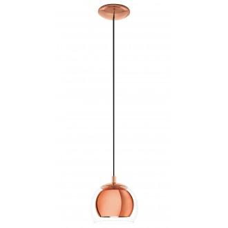 EGLO 94589 | Rocamar Eglo visilice svjetiljka 1x E27 crveni bakar, prozirna