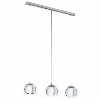 EGLO 94593 | Rocamar Eglo visilice svjetiljka 3x E27 krom, prozirna