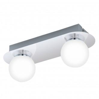EGLO 94627 | Mosiano Eglo zidna, stropne svjetiljke svjetiljka 2x LED 680lm 3000K IP44 krom, bijelo