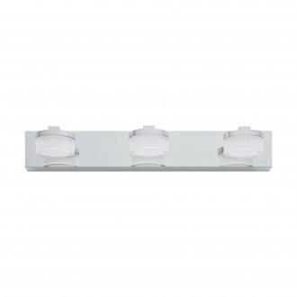 EGLO 94653 | Romendo Eglo zidna svjetiljka 3x LED 1440lm 3000K IP44 krom, bijelo, prozirna