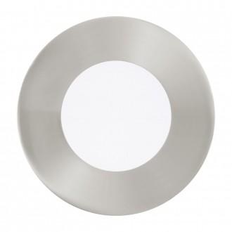 EGLO 94734 | Fueva_1 Eglo ugradbene svjetiljke LED panel okrugli trodijelni set Ø85mm 3x LED 900lm 3000K poniklano mat, bijelo