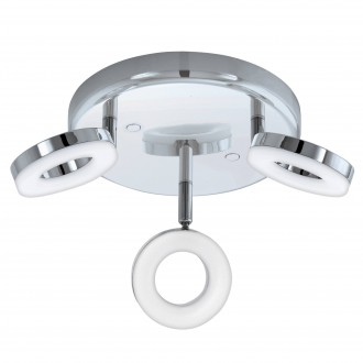 EGLO 94762 | Gonaro Eglo spot svjetiljka elementi koji se mogu okretati 3x LED 1080lm 3000K IP44 krom, bijelo