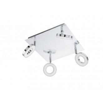 EGLO 94763 | Gonaro Eglo spot svjetiljka elementi koji se mogu okretati 4x LED 1440lm 3000K IP44 krom, bijelo