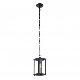 EGLO 94788 | Alamonte Eglo visilice svjetiljka 1x E27 IP44 crno, prozirna