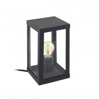 EGLO 94789 | Alamonte Eglo stolna svjetiljka 27,5cm 1x E27 IP44 crno, prozirna