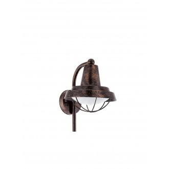EGLO 94838   Colindres Eglo zidna svjetiljka 1x E27 IP44 antik crveni bakar, bijelo