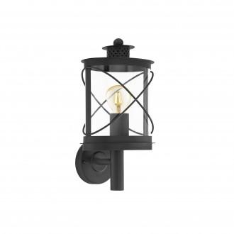 EGLO 94842   Hilburn Eglo zidna svjetiljka 1x E27 IP44 crno, prozirna