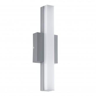 EGLO 94845 | Acate Eglo zidna, stropne svjetiljke svjetiljka četvrtast 1x LED 770lm 3000K IP44 srebrno, bijelo