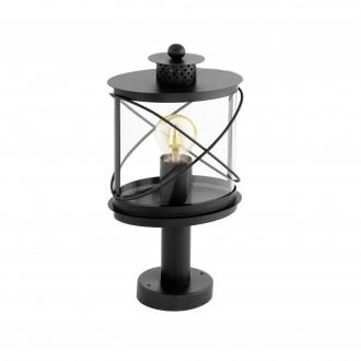 EGLO 94864 | Hilburn Eglo podna svjetiljka 41cm 1x E27 IP44 crno, prozirna