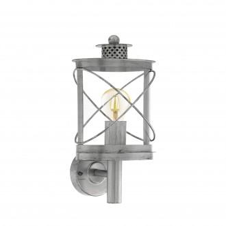 EGLO 94865   Hilburn Eglo zidna svjetiljka 1x E27 IP44 antik srebrna, prozirna