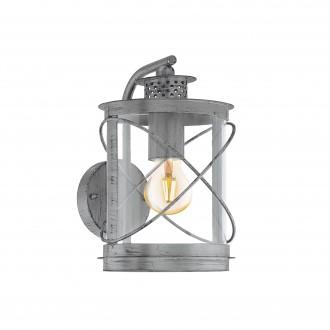 EGLO 94866   Hilburn Eglo zidna svjetiljka 1x E27 IP44 antik srebrna, prozirna