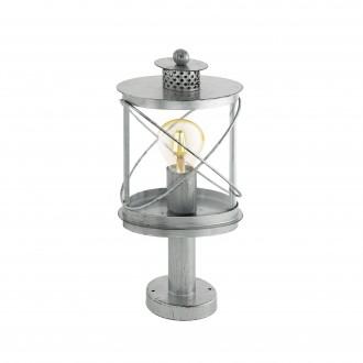 EGLO 94867   Hilburn Eglo podna svjetiljka 41cm 1x E27 IP44 antik srebrna, prozirna