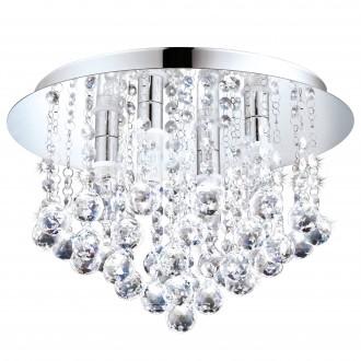EGLO 94878 | Almonte Eglo stropne svjetiljke svjetiljka 4x G9 1200lm 3000K IP44 krom, prozirna
