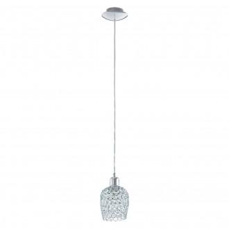 EGLO 94896 | Bonares-1 Eglo visilice svjetiljka 1x E27 krom, prozirno