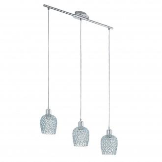 EGLO 94897 | Bonares-1 Eglo visilice svjetiljka 3x E27 krom, prozirno