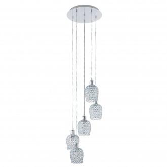 EGLO 94898 | Bonares-1 Eglo visilice svjetiljka 5x E27 krom, prozirno