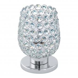 EGLO 94899 | Bonares-1 Eglo stolna svjetiljka 19cm sa prekidačem na kablu 1x E27 krom, prozirno
