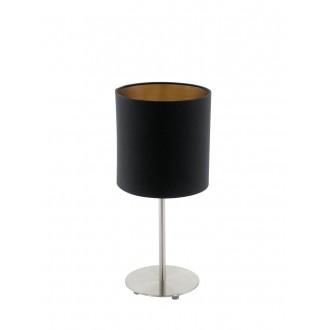 EGLO 94917 | Eglo-Pasteri-BC Eglo stolna svjetiljka 40cm sa prekidačem na kablu 1x E27 crno mat, mesing, poniklano mat