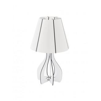 EGLO 94947   Tindori Eglo stolna svjetiljka 45cm sa prekidačem na kablu 1x E27 bijelo