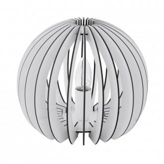 EGLO 94949   Cossano Eglo stolna svjetiljka 22cm sa prekidačem na kablu 1x E27 bijelo