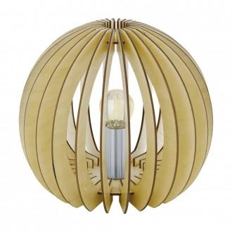 EGLO 94953   Cossano Eglo stolna svjetiljka 22cm sa prekidačem na kablu 1x E27 javor, bijelo