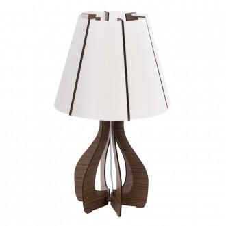 EGLO 94954   Tindori Eglo stolna svjetiljka 45cm sa prekidačem na kablu 1x E27 smeđe, bijelo