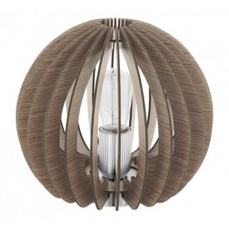 EGLO 94956 | Cossano Eglo stolna svjetiljka 22cm sa prekidačem na kablu 1x E27 smeđe, bijelo