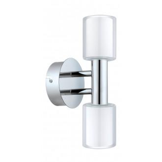 EGLO 94994 | Palermo-1 Eglo zidna svjetiljka 2x G9 600lm 3000K IP44 krom, bijelo, prozirna