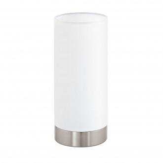 EGLO 95118 | Eglo-Pasteri-W Eglo stolna svjetiljka 25,5cm sa tiristorski dodirnim prekidačem 1x E27 bijelo mat, poniklano mat