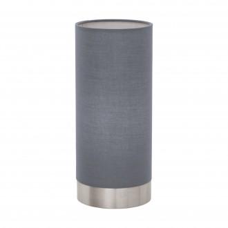 EGLO 95119 | Eglo-Pasteri-G Eglo stolna svjetiljka 25,5cm sa tiristorski dodirnim prekidačem 1x E27 mat sivo, bijelo, poniklano mat