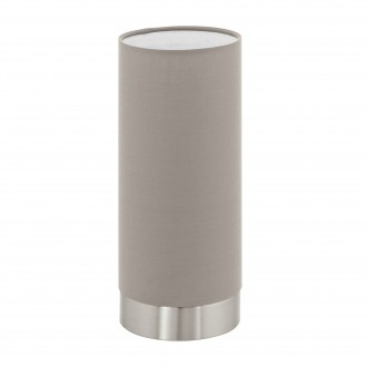 EGLO 95122 | Eglo-Pasteri-T Eglo stolna svjetiljka 25,5cm sa tiristorski dodirnim prekidačem 1x E27 mat taupe, bijelo, poniklano mat