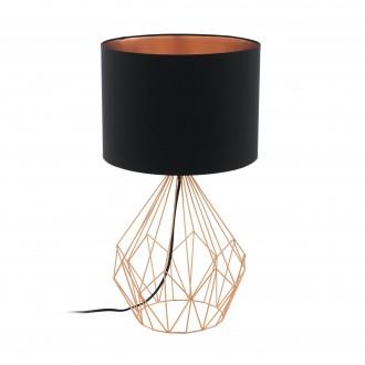 EGLO 95185 | Carlton Eglo stolna svjetiljka 64,5cm sa prekidačem na kablu 1x E27 crveni bakar, crno