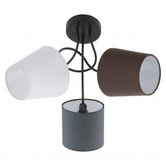 EGLO 95192 | Almeida Eglo stropne svjetiljke svjetiljka 3x E14 crno, bijelo, smeđe