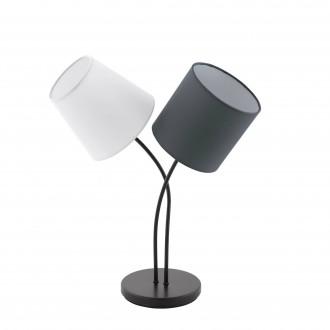 EGLO 95194 | Almeida Eglo stolna svjetiljka 47,5cm sa prekidačem na kablu 2x E14 crno, bijelo