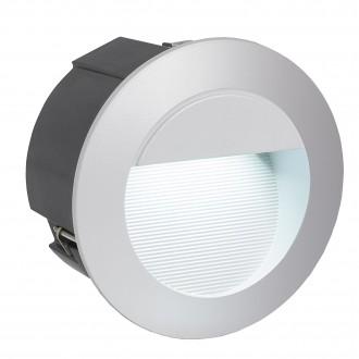 EGLO 95233 | ZimbaLed Eglo ugradbena svjetiljka Ø125mm 1x LED 320lm 4000K IP65 srebrno