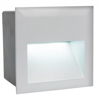 EGLO 95235 | ZimbaLed Eglo ugradbena svjetiljka 140x140mm 1x LED 400lm 4000K IP65 srebrno