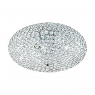 EGLO 95285 | Clemente Eglo stropne svjetiljke svjetiljka 3x E27 krom, prozirno