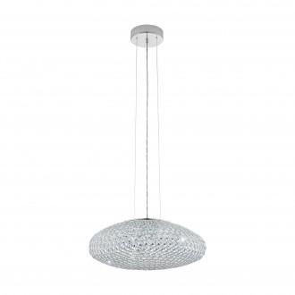 EGLO 95287 | Clemente Eglo visilice svjetiljka 3x E27 krom, prozirno