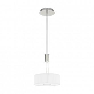 EGLO 95329 | Romao Eglo visilice svjetiljka balansna - ravnotežna, sa visinskim podešavanjem, jačina svjetlosti se može podešavati 1x LED 1600lm 3000K poniklano mat, krom, bezbojno