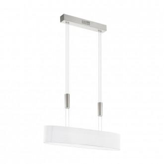 EGLO 95332 | Romao Eglo visilice svjetiljka balansna - ravnotežna, sa visinskim podešavanjem, jačina svjetlosti se može podešavati 4x LED 8000lm 3000K poniklano mat, krom, bezbojno