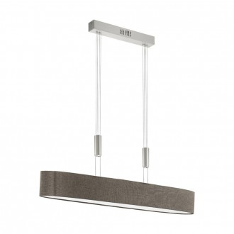EGLO 95342 | Romao Eglo visilice svjetiljka balansna - ravnotežna, sa visinskim podešavanjem, jačina svjetlosti se može podešavati 1x LED 3000lm 3000K poniklano mat, krom, smeđe